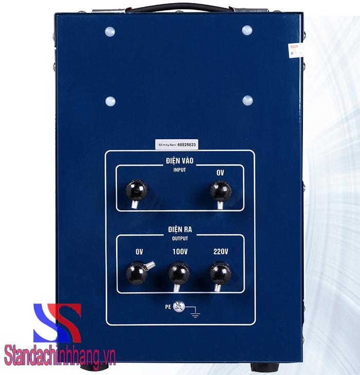 Ảnh ổn áp thương hiệu standa 5kva dải điện từ 150v đến 250v
