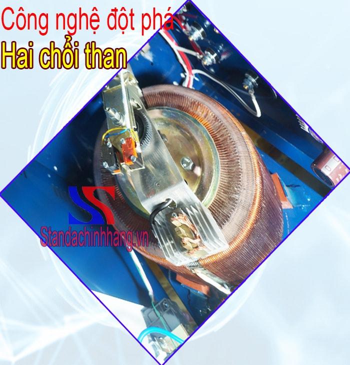 Ảnh chổi than cho dòng ổn áp standa 5kva 1 pha loại 150v đến 250v