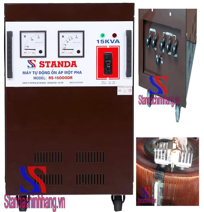 Sử dụng ổn áp Standa 15kva giúp bảo vệ các thiết bị điện tốt nhất