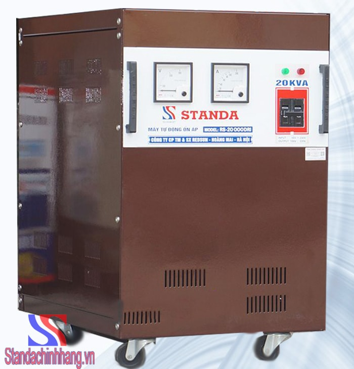 hình ảnh mặt nghiêng ổn áp standa điện áp từ 50v
