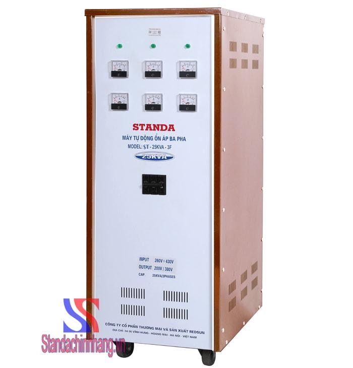Ổn áp Standa 25KVA dải điện áp 260V đến 430V chính hãng