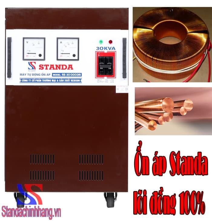 ổn áp standa 30kva dải điện từ 50v Lõi đồng 100%
