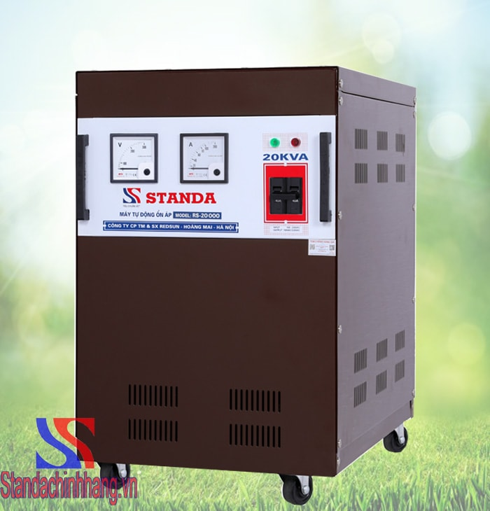 HÌnh ảnh chi tiết nhất máy ổn áp standa 20kva điện áp từ 150v đến 250v