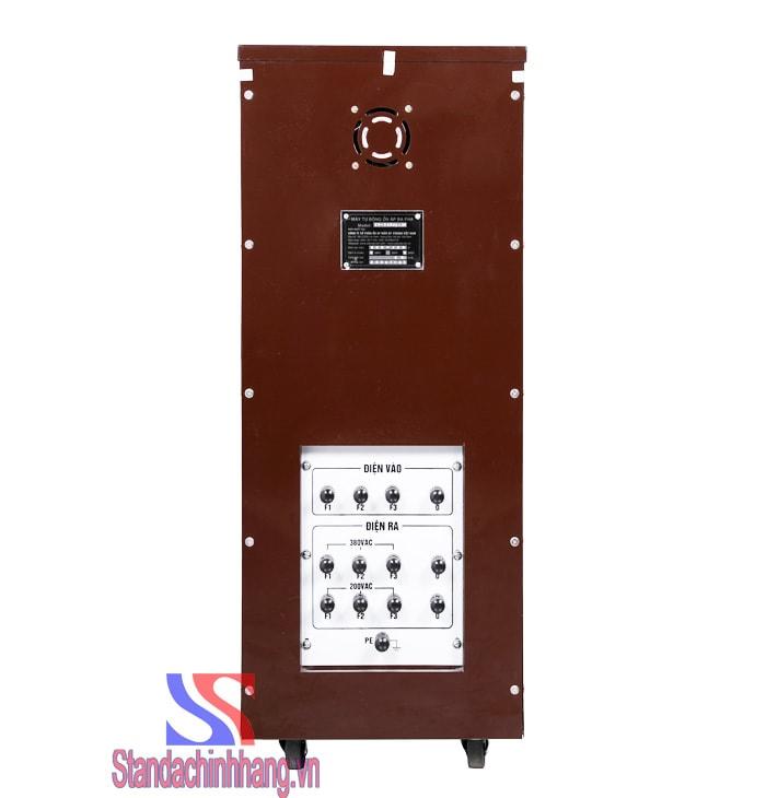Hình ảnh ổn áp 3 pha 20KVA chính hãng dải điện áp từ 160V mặt sau