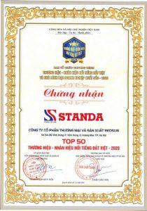 hình ảnh giải thưởng thương hiệu Standa