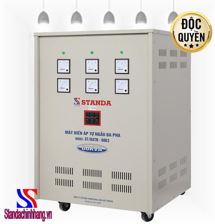 Biến áp tự ngẫu Standa 60kva 3 pha với những điểm khác biệt