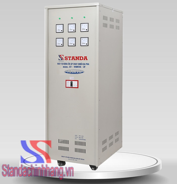 Hình ảnh ổn áp standa 150KVA dải điện áp 260V chính hãng