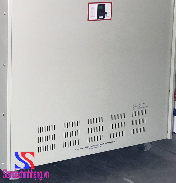 hình ảnh mặt sau biến áp tự ngẫu 250KVA 3 pha thương hiệu Standa - Biến áp tự ngẫu 250kva hạ áp 380v sang 220v – 200v cấu tạo 1 cuộn dây quấn