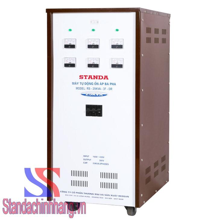 Ảnh ổn áp 3 pha Standa 25Kva dải điện áp từ 160V ảnh mặt nghiêng