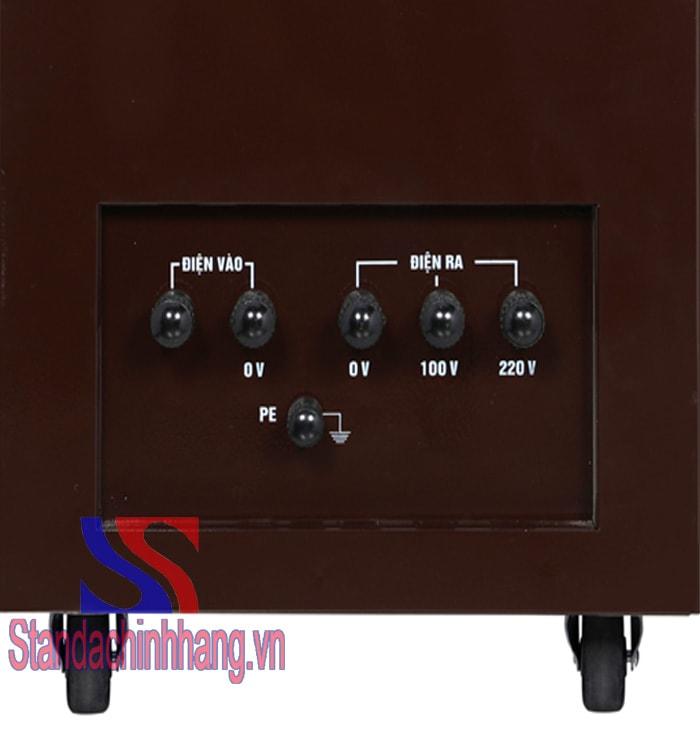 Ảnh máy ổn áp standa điện áp vào 150 đến 250V
