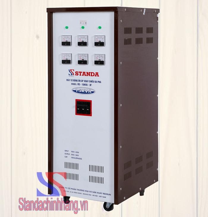 Ảnh chi tiết ổn áp 3 pha standa 15kva dải điện áp từ 260v