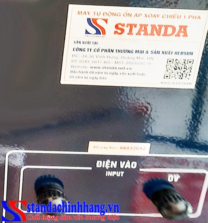Tại sao nên mua ổn áp Standa chính hãng tại Redsun