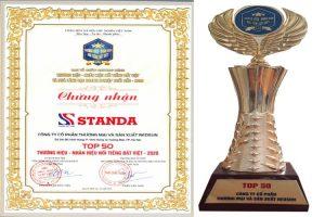 giải thưởng nối tiếng thương hiệu Standa