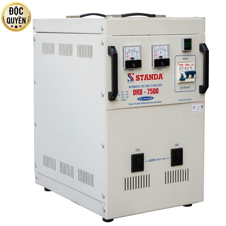 máy ổn áp tự động đa chức năng thế hệ mới STANDA 7.5kva dải 50v