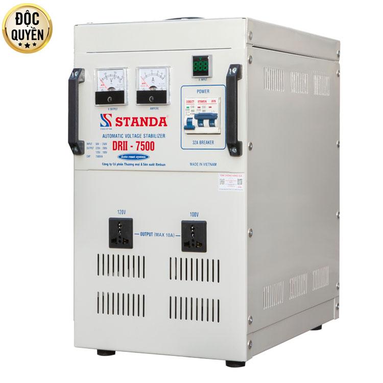 ổn áp STANDA 7.5KVA 2 đường ra DRII (50V-250V)