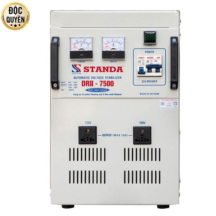 Máy ổn áp tự động đa chức năng 7.5KVA điện áp 50V