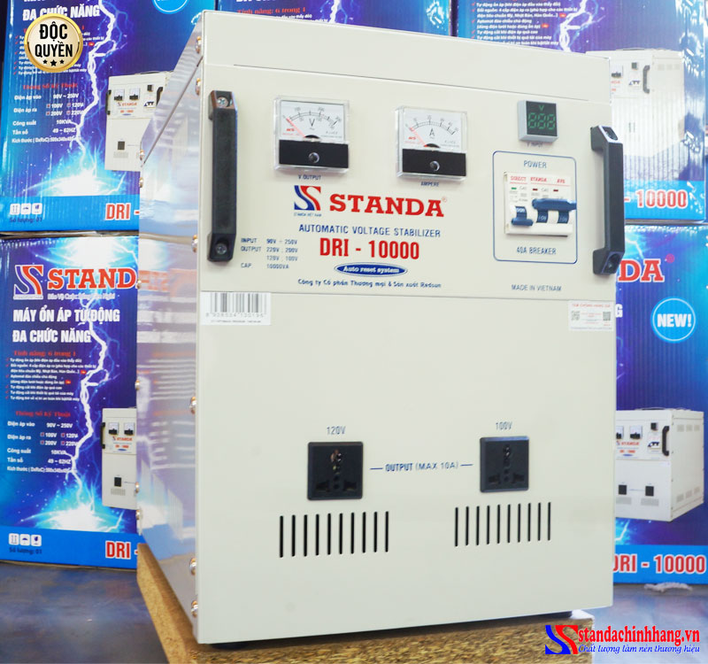 Máy ổn áp tự động đa chức năng 10KVA DRI 90V thế hệ mới 2021