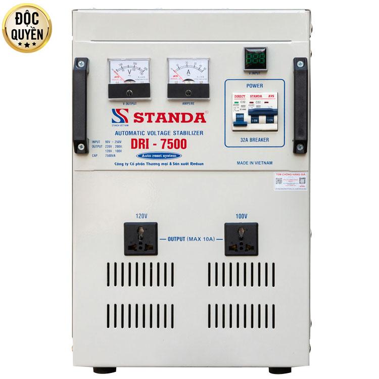 Hiệu quả sử dụng ổn áp STANDA 7.5kva DRI dải điện 90V-250V