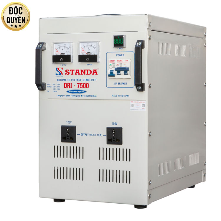 ổn áp tự động đa chức năng 7.5kva DRI ( 90V-250V)