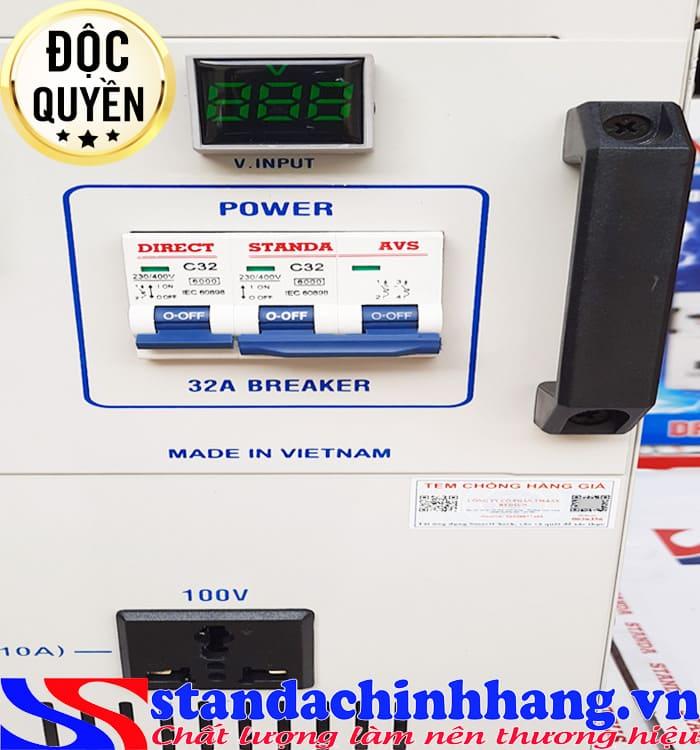 Máy tự động ổn áp đa chức năng Standa 7.5KVA điện áp 90V