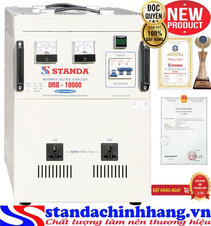 Máy tự động ổn áp đa chức năng Standa 10KVA điện áp 50V