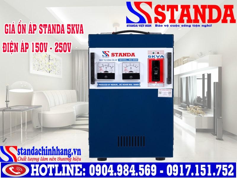 Giá ổn áp Standa 5kva RS-5000 (dải 150v - 250v) 2,100,000Đ