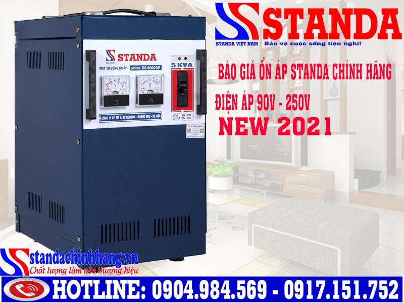 Giá máy ổn áp Standa 5kva RS-5000DR (dải 90v - 250v) 2,400,000Đ