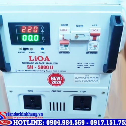 Hướng dẫn sử dụng ổn áp LIOA 5kva