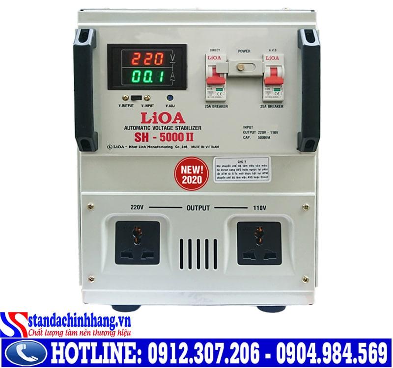 Các dòng ổn áp LIOA 5kva có kích thước như thế nào