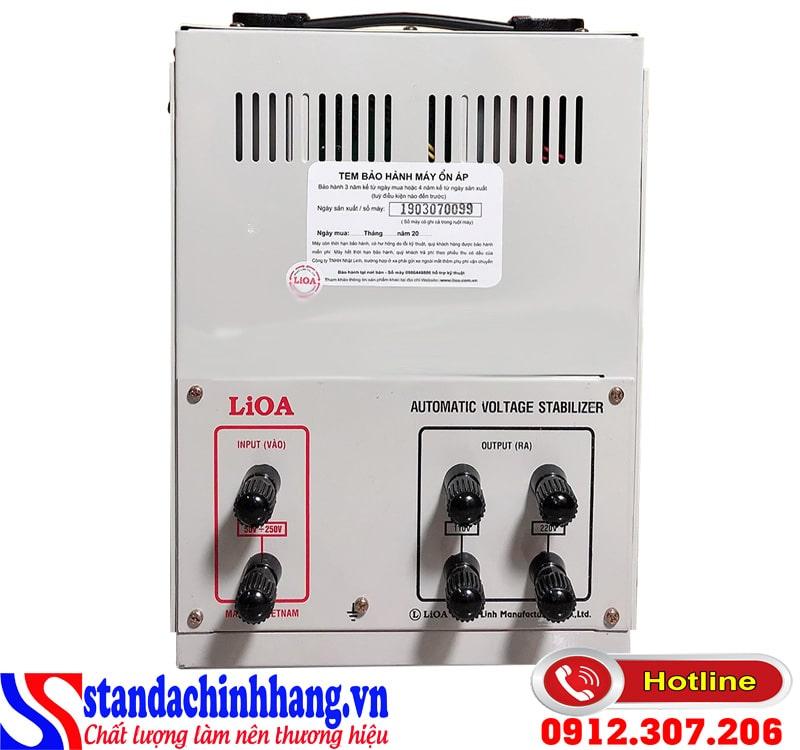 Hình ảnh ổn áp Lioa 5KVA điện áp từ 50V đến 250V