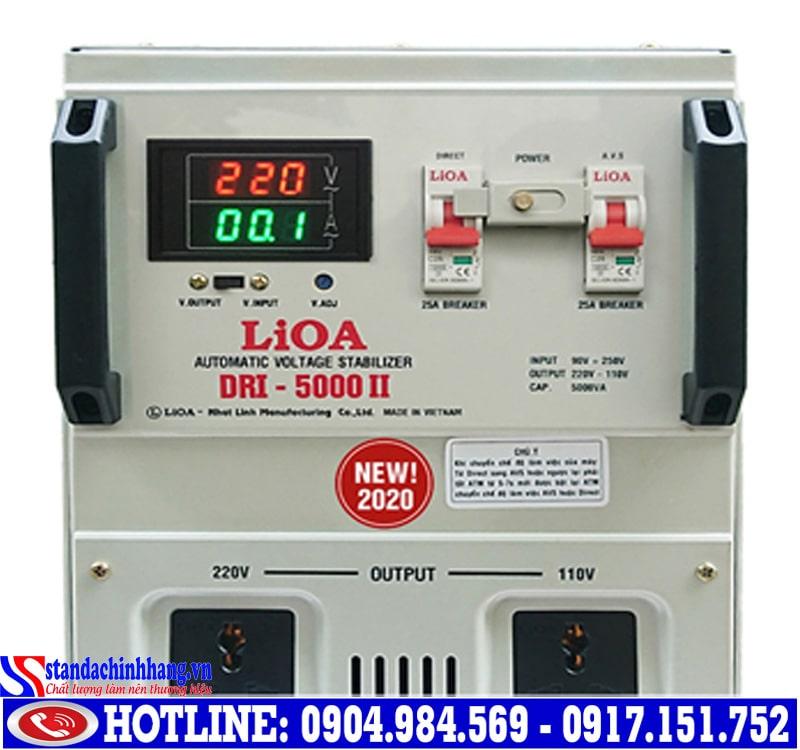 Ổn áp lioa 5kva-dri(90v-250v) phù hợp cho gia đình