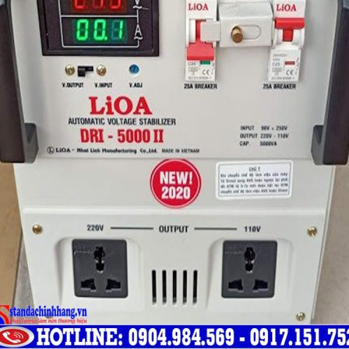 Ổn áp Lioa 5kva-dri(90v-250v)