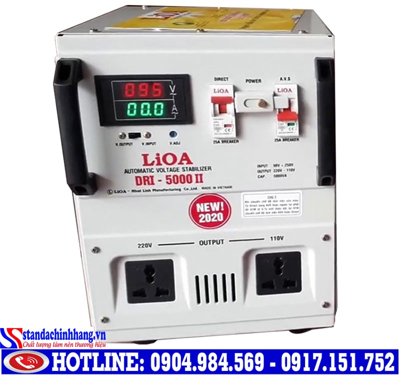 Hình ảnh Ổn áp Lioa 5kva-dri(90v-250v)