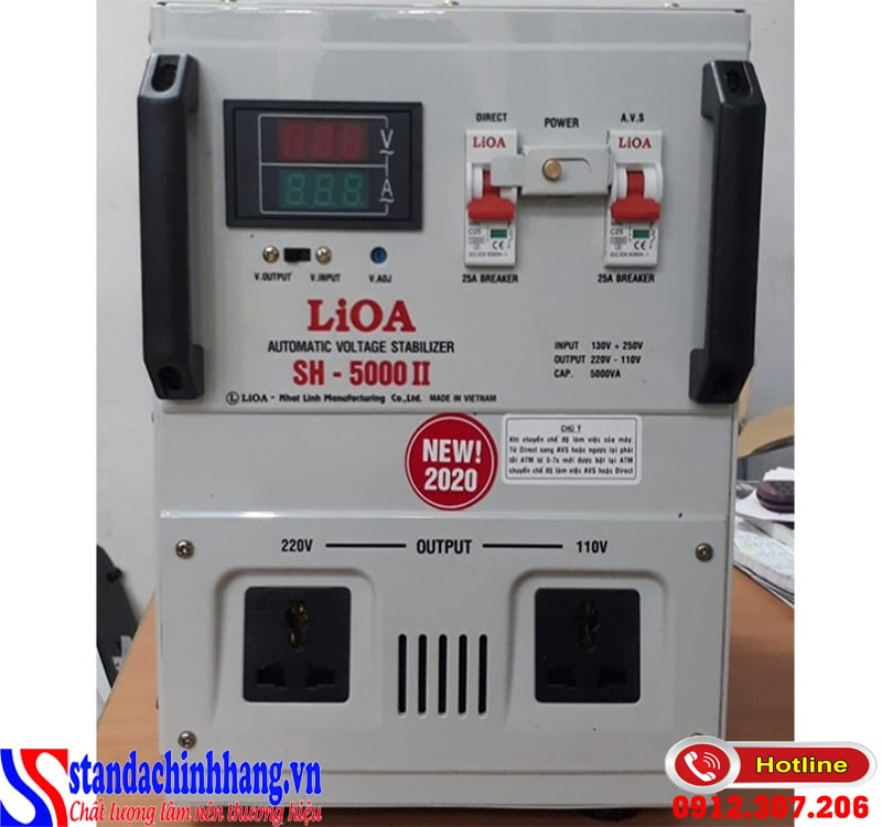 Những ưu điểm nổi bật của ổn áp LIOA 1p sh-5kva - sh-5000