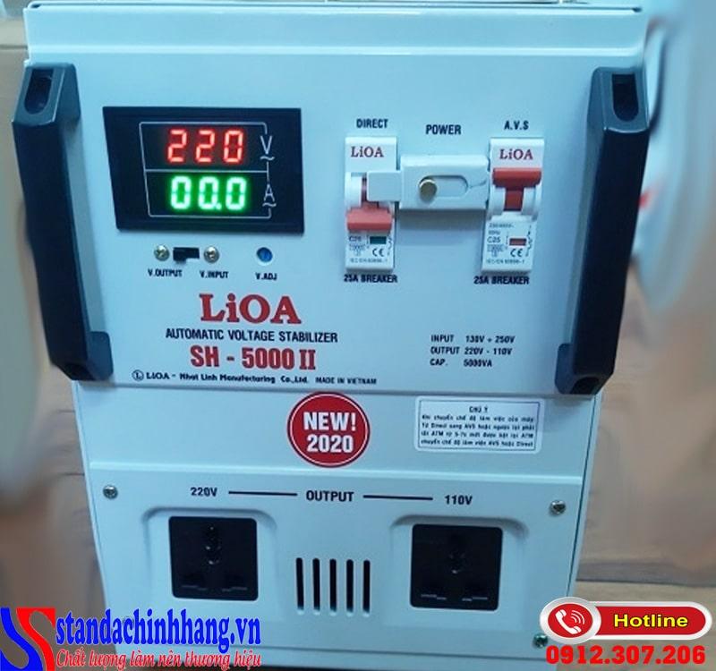 Ổn áp LIOA sh 5000 ii thế hệ mới 100% dây đồng