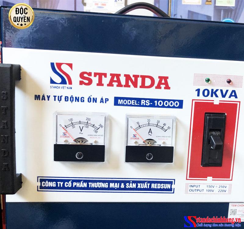 Đặc điểm của ổn áp STANDA 10KVA dải điện áp 150V Redsun
