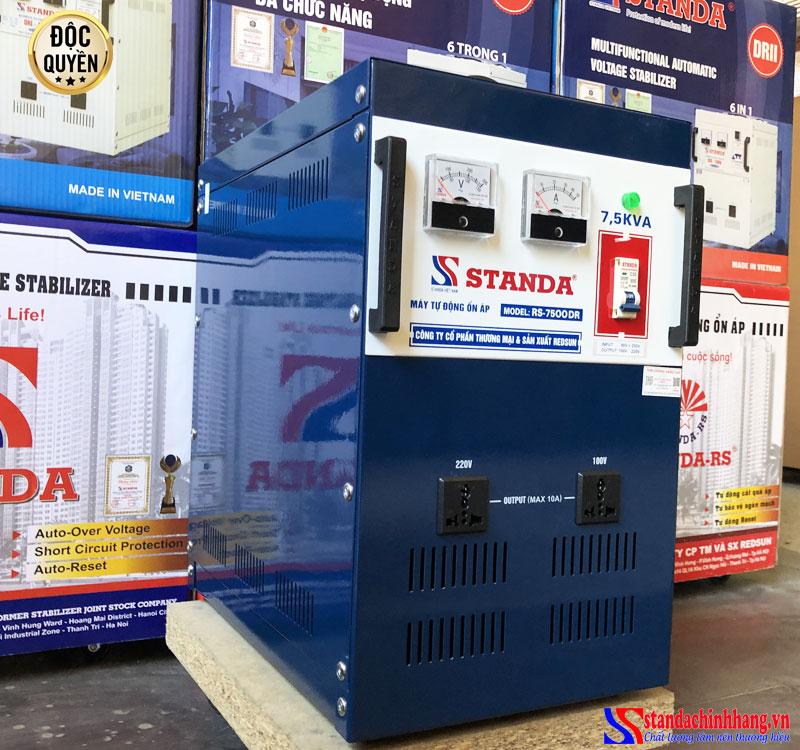 Ổn áp Standa 7.5KVA dải điện áp 90V-50V 2 ổ cắm