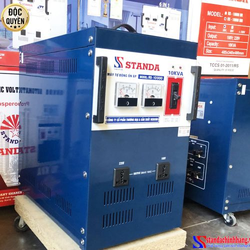 Ổn áp Standa 10KVA dải 150V 2 ổ cắm