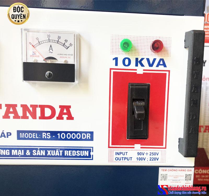 ảnh aptomat Ổn áp standa 10Kva điện áp 90V -250V chính hãng standa redsun