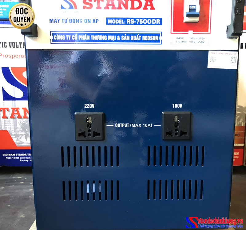 Ảnh ổn áp STanda 7.5KVA dải điện áp 90V