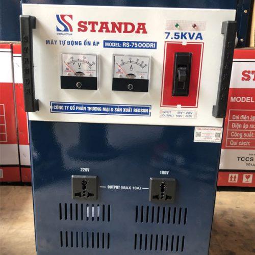 Ổn áp Standa 7.5KVA dải 50V 2 ổ cắm