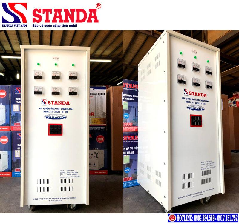 Một số hình ảnh cách chỉnh điện yếu khi dùng ổn áp Standa chính hãng