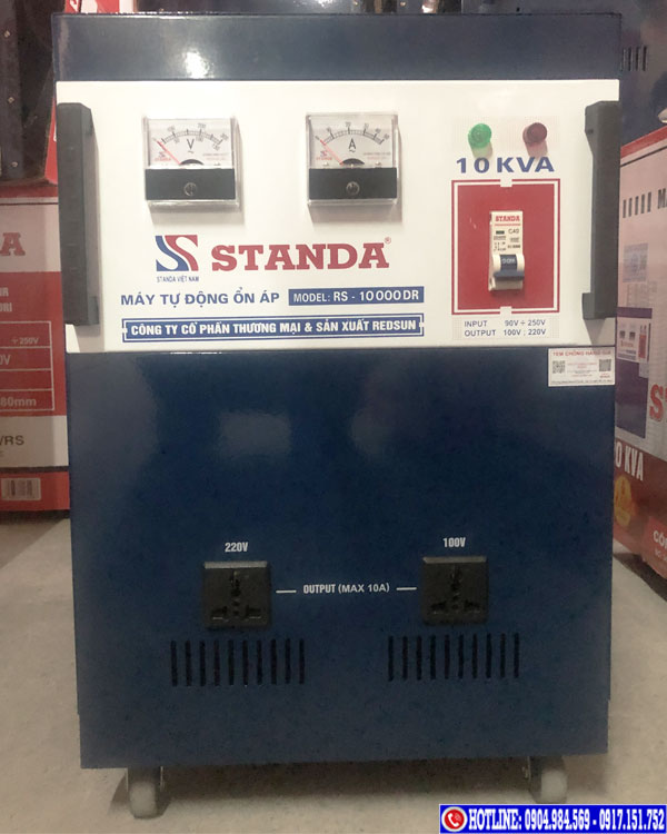 Ổn áp Standa 10KVA dải 90V 2 ổ cắm