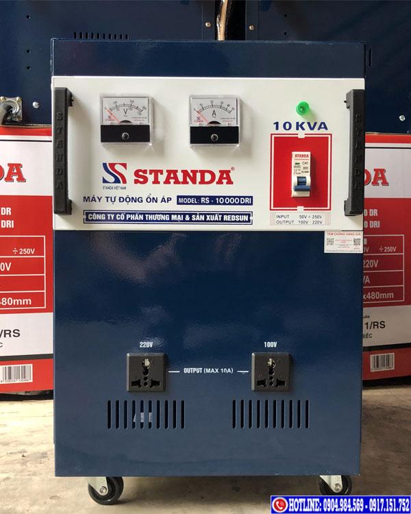 Hình ảnh ổn áp Standa 10KVA dải 50V DRI 2 ổ cắm