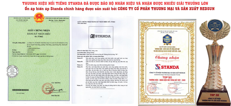 Ảnh giấy chứng nhận và giải thưởng Standa