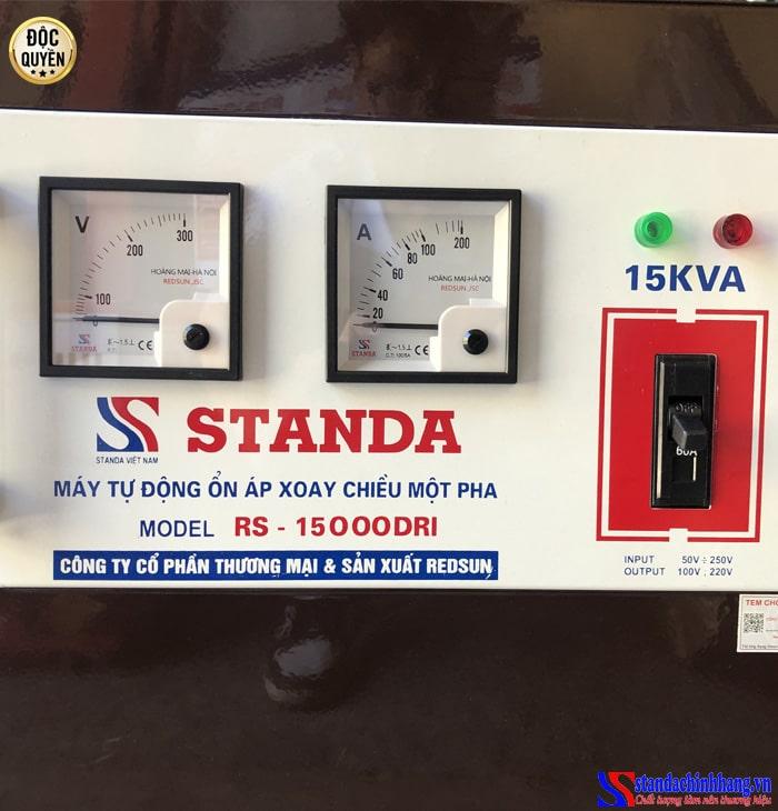 Ảnh đồng hồ Ổn áp Standa 15KVA dải 50V -250V thế hệ mới 2021