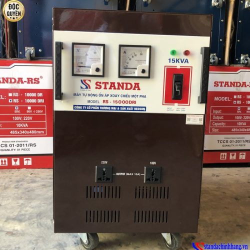 Ổn áp Standa 15KVA dải 50V -250V thế hệ mới 2021