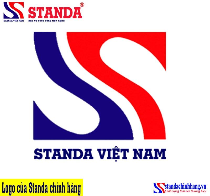 Phân biệt Standa giả nhái qua logo - LOgo của ổn áp Standa chính hãng