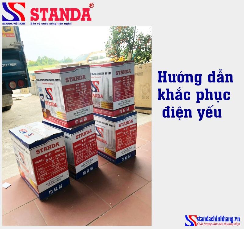 Cách khắc phục điện yếu với ổn áp Standa