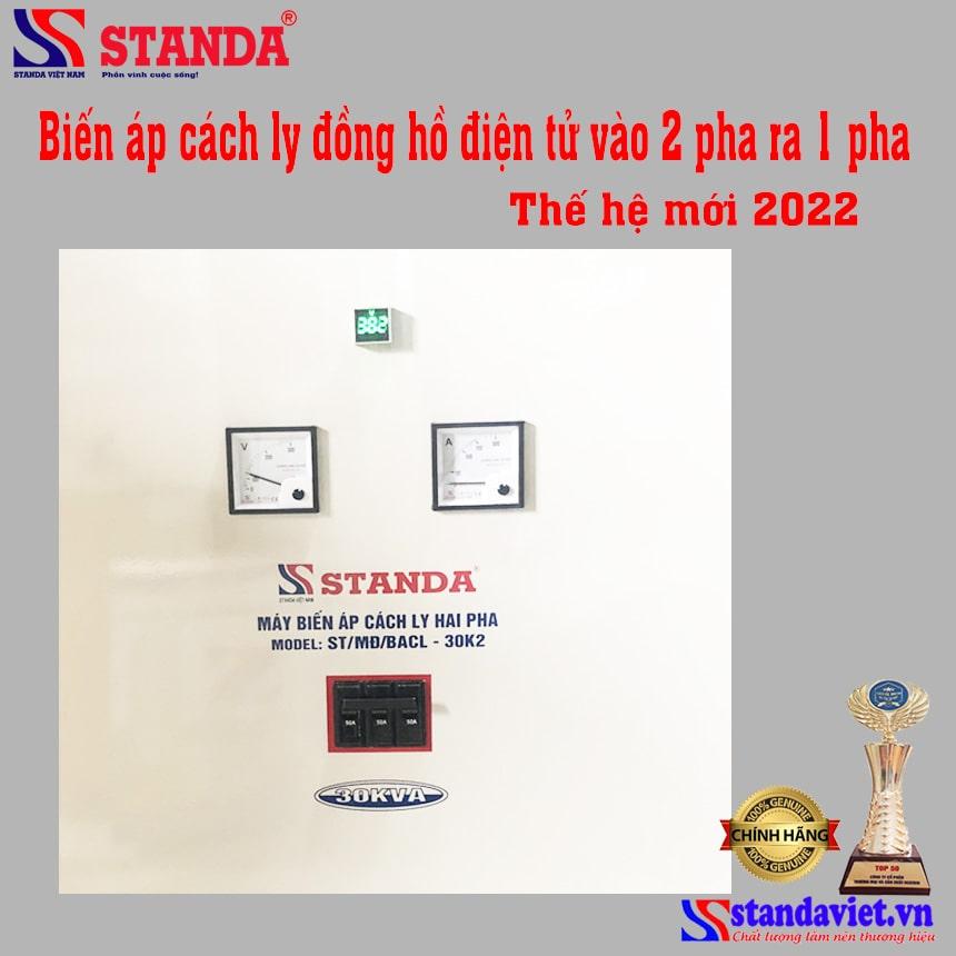 Biến áp cách ly vào 2 pha ra 1 pha (380V;400V;110V;220V) Standa 30kva